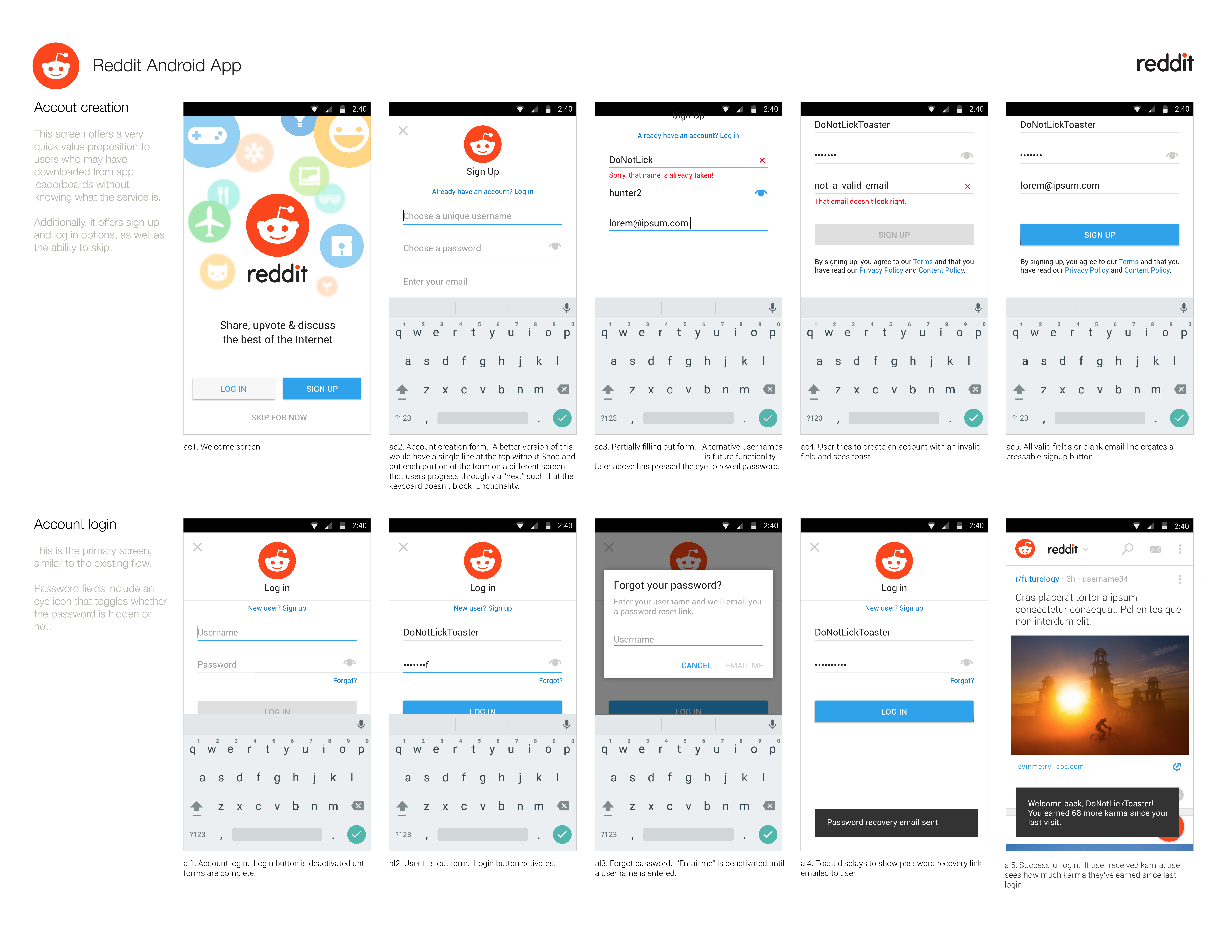 Reddit App | DO NOT LICK